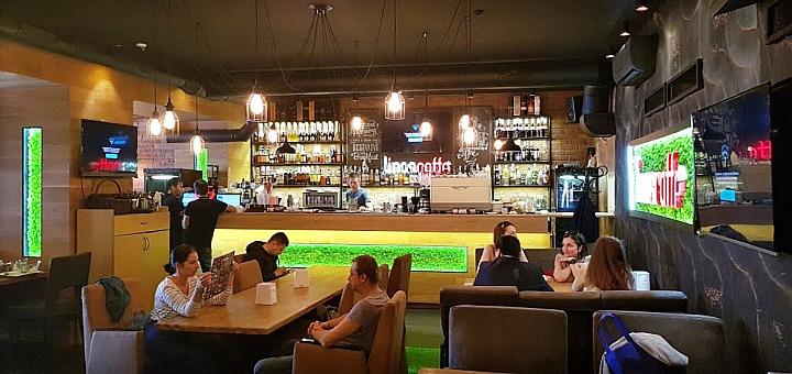 Скидка 40% на меню кухни в ресторане «Linas caffe»
