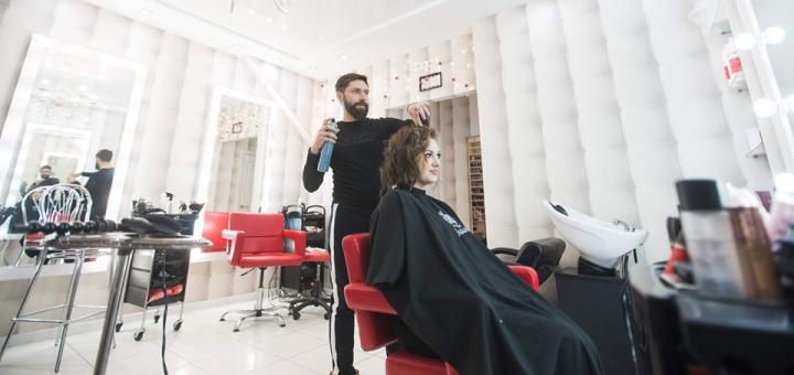 Фарбування, стрижка, полірування, укладка, відновлення волосся в студії В. Кульбацького