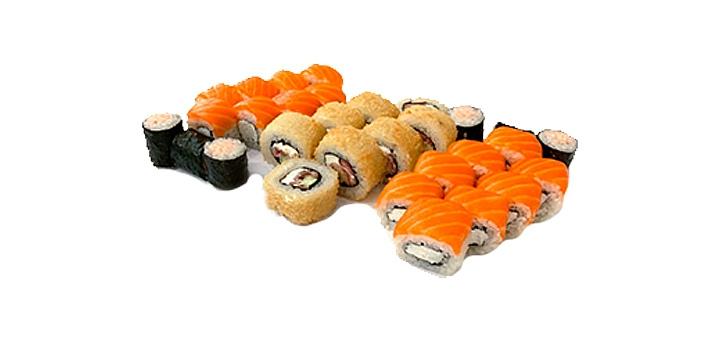 Скидка 50% на суши-сет «Иммунитет», «Нежный Лосось» или «Фила Лосось» от сети «Суши Сет»