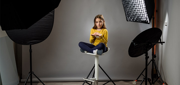 Детское профессиональное модельное портфолио от фотостудии «Art Home Photography»