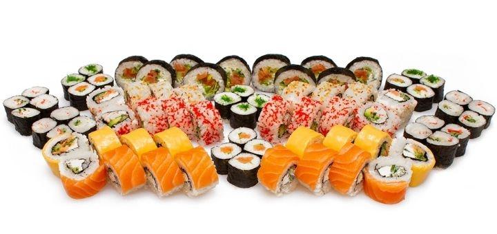 Скидка 50% на суши-сет «Шанхай» с доставкой или самовывозом от «Суши Sun»