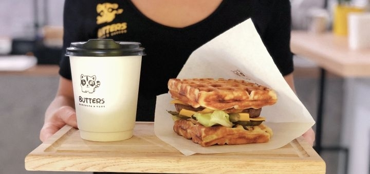 Скидка 50% на все меню вафель в кафе «Butters»
