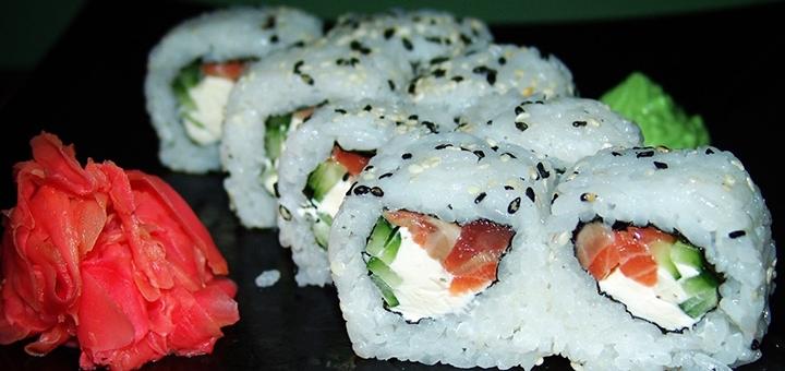 Скидка 55% на все суши, роллы и сеты с доставкой и на вынос в суши-баре «Beer & Sushi»