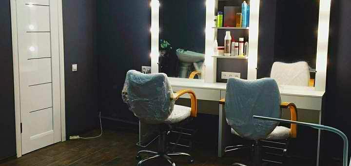 Стрижка, укладка и окрашивание волос в салоне красоты «Maybe beauty room»