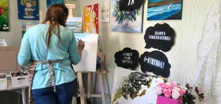 Мастер-класс по написанию картины маслом в художественной студии «Art Hobby»