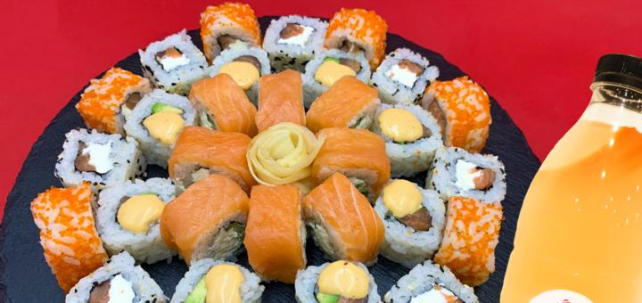 Скидка 50% на суши-сет «Вкусный» от службы доставки «Yumeko»