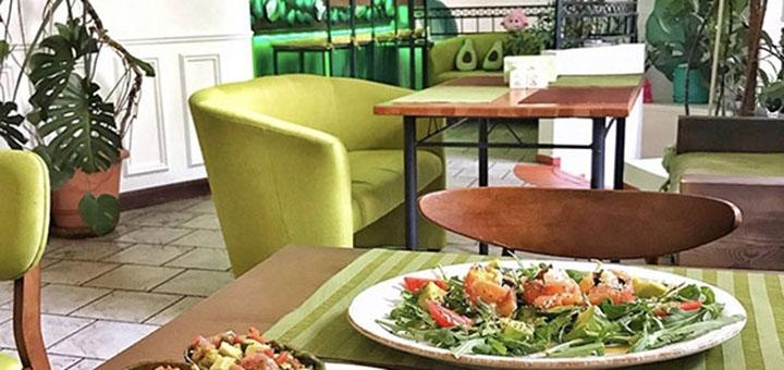 Скидка 50% на все меню кухни в ресторане европейской кухни «Avocado»