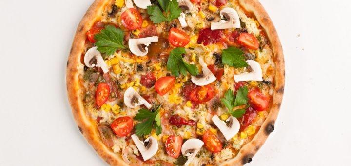 Скидка 50% на пиццу, бургеры и салаты от «Pizza Go»