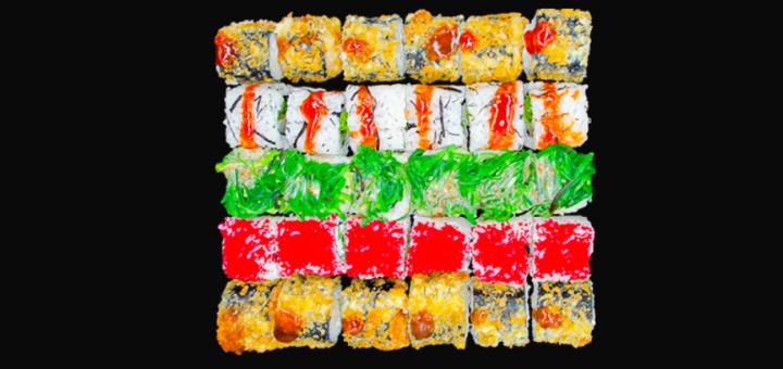 Скидка 50% на суши-боксы «Микс лосось 1 кг» или «Для большой компании» от «BuduSushi»