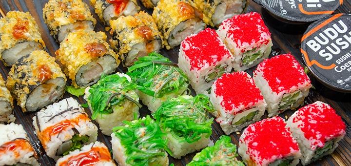 Скидка 56% на суши-бокс «Для большой компании» от сети магазинов «BuduSushi»