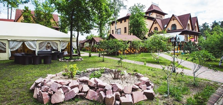 1 день отдыха для двоих в загородном комплексе «Krakow» под Киевом