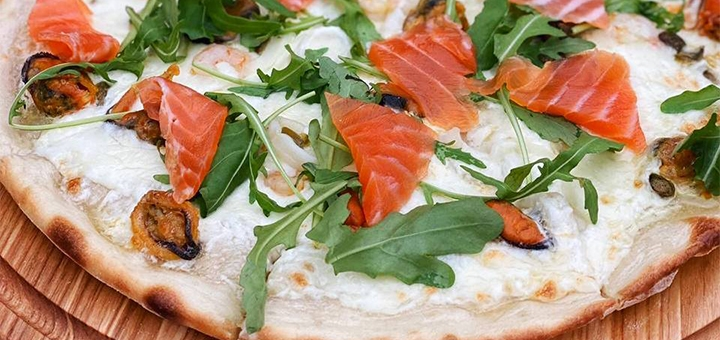 Скидка 50% на всё меню кухни, суши, пиццу в рестомаркете «Рыба   Лимон»