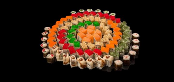 Скидка 55% на сет «На компанию» от доставки суши «Dino Sushi»