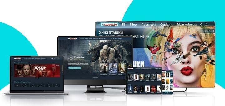 До 12 месяцев подписки на онлайн-кинотеатр «SWEET.TV»