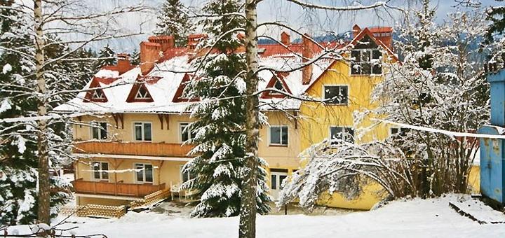 От 3 дней отдыха с питанием и бильярдом в отеле «Калина» в Славском