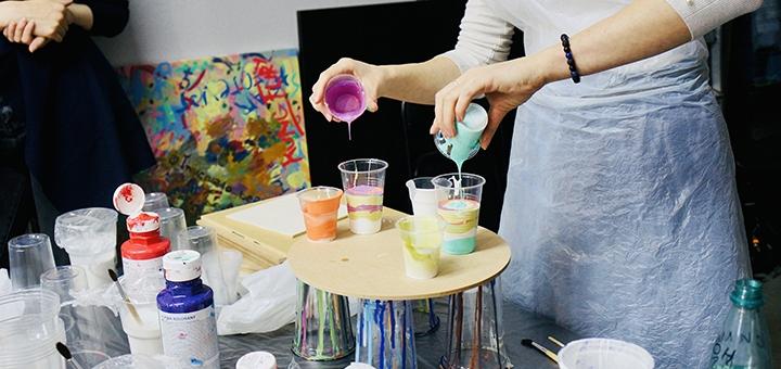 Арт-бокс для создания картин в технике «Флюид-арт» от студии «Art Perfect»