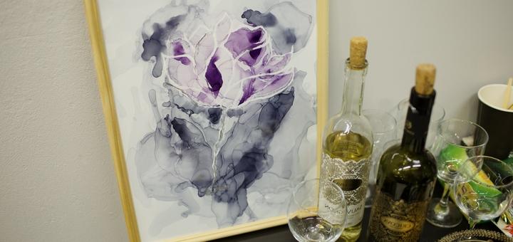 Арт-бокс для изготовления картин в технике «Алкогольные чернила» от студии «Art Perfect»