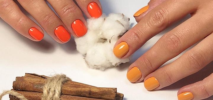 Маникюр, педикюр с покрытием гель-лаком в студии красоты «Nail Room by Kovalenko»