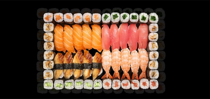 Скидка 50% на сет «№15» от службы доставки «Dino Sushi»
