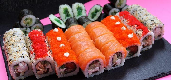 Скидка 45% на сет «Суши куши» от службы доставки «Sushi Kushi»