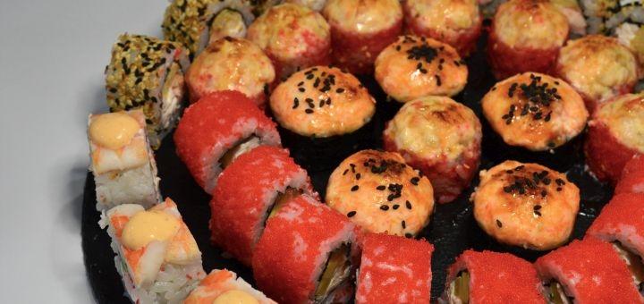 Скидка 53% на суши-сет «Рыбный килограмм» от магазина-ресторана японской кухни «Суши WOK»