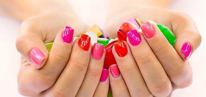 Маникюр, педикюр, Shellac, коррекция и наращивание ногтей с покрытием гелем или френч в студии красоты «Клеопатра»!