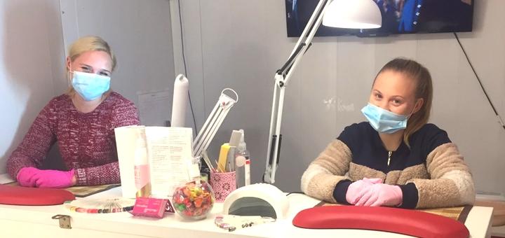 Наращивание ногтей с покрытием гель-лаком в салоне красоты «BEAUTY BAR»