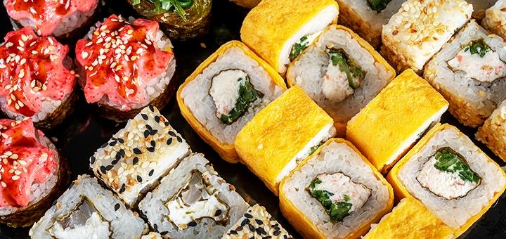 Скидка 50% на килограммовый суши-сет «Акционный» от сети кафе-магазинов «Суши Сет»