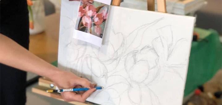 Мастер-класс по масляной живописи от творческой студии «Артикул»