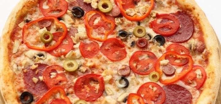 Скидка 40% на все меню пиццы от пиццерии «Pizza 45»