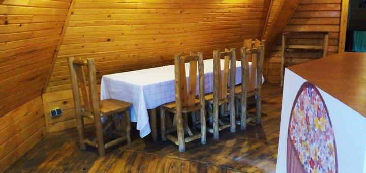 Отдых для компании до 6-х человек в коттеджном городке «Wood house» в Ивано-Франковской области!