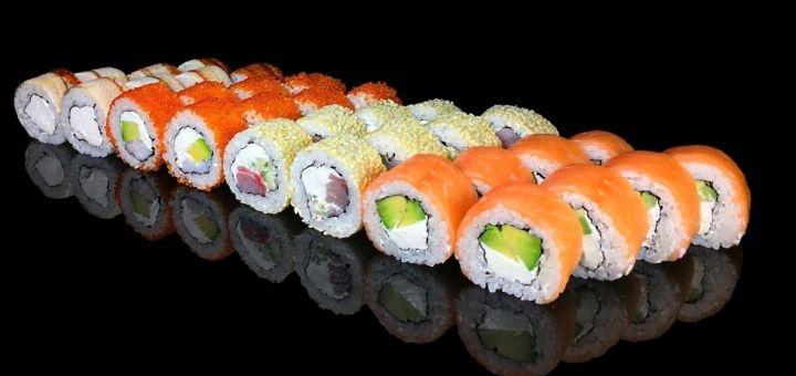 Скидка 45% на суши-сет «№16», «№13», «№11» или «№14» от доставки суши «Dino Sushi»
