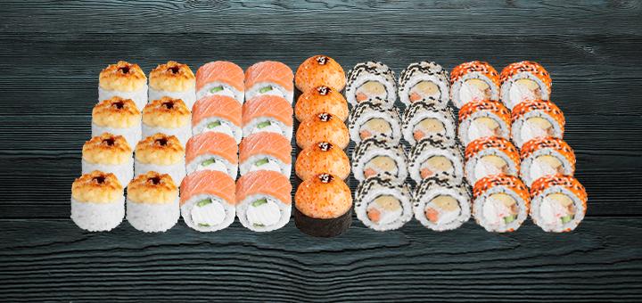 Скидка 45% на суши-сет «Сырный 1 кг» с доставкой или самовывозом от «Суши Wok»