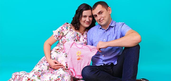 Выездная или студийная фотосессия для будущих мам «В ожидании» от фотостудии «Контраст»