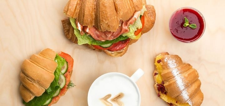 Скидка 50% на меню круассанов в кафе «Street Hub Круасан»