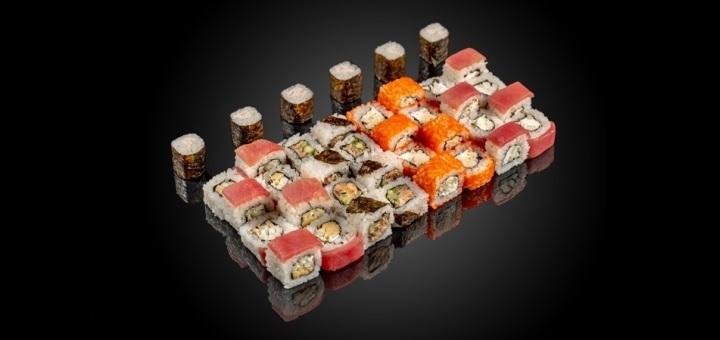 Скидка 50% на суши-сет «Рыба» от сети кафе-магазинов «SushiBoss»