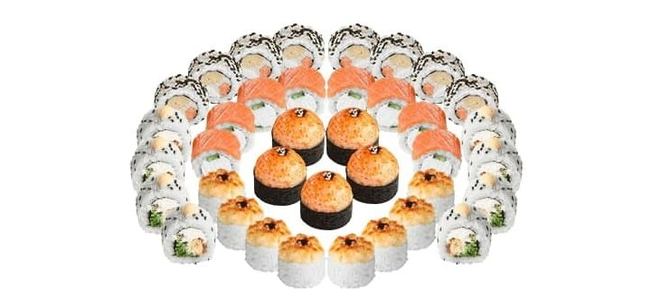 Скидка 41% на суши-сет «Сырный 1 кг» с доставкой или самовывозом от «Суши Wok»
