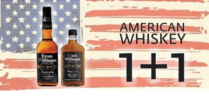 Акция! Купи один из американских виски или ликеров на основе виски - и получи в подарок бурбон Evan Williams Black!