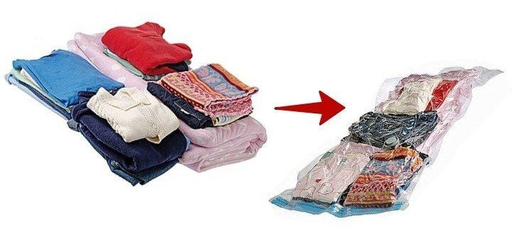 Наборы вакуумных пакетов для хранения вещей!